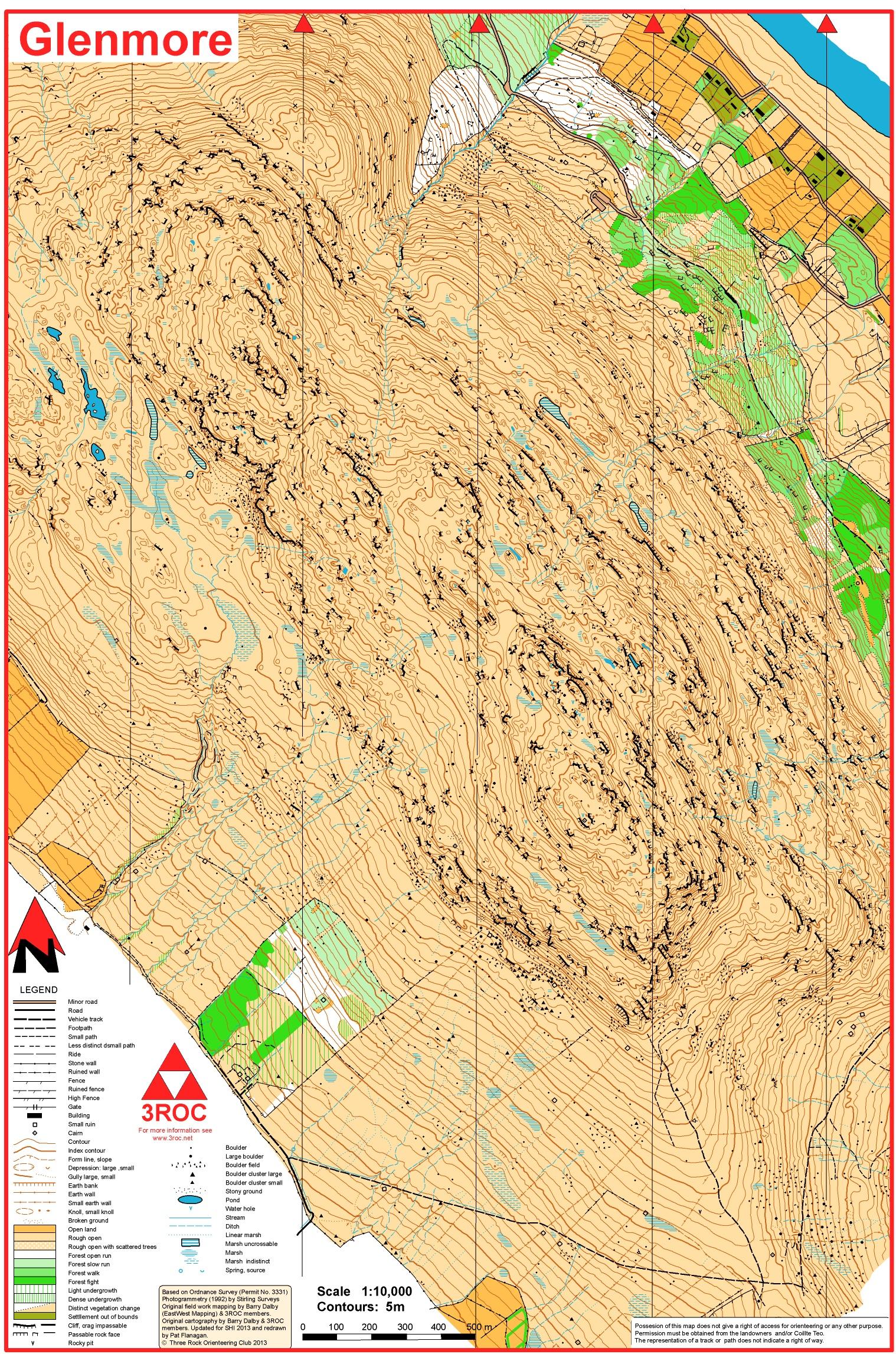 Glenmore orienteering map