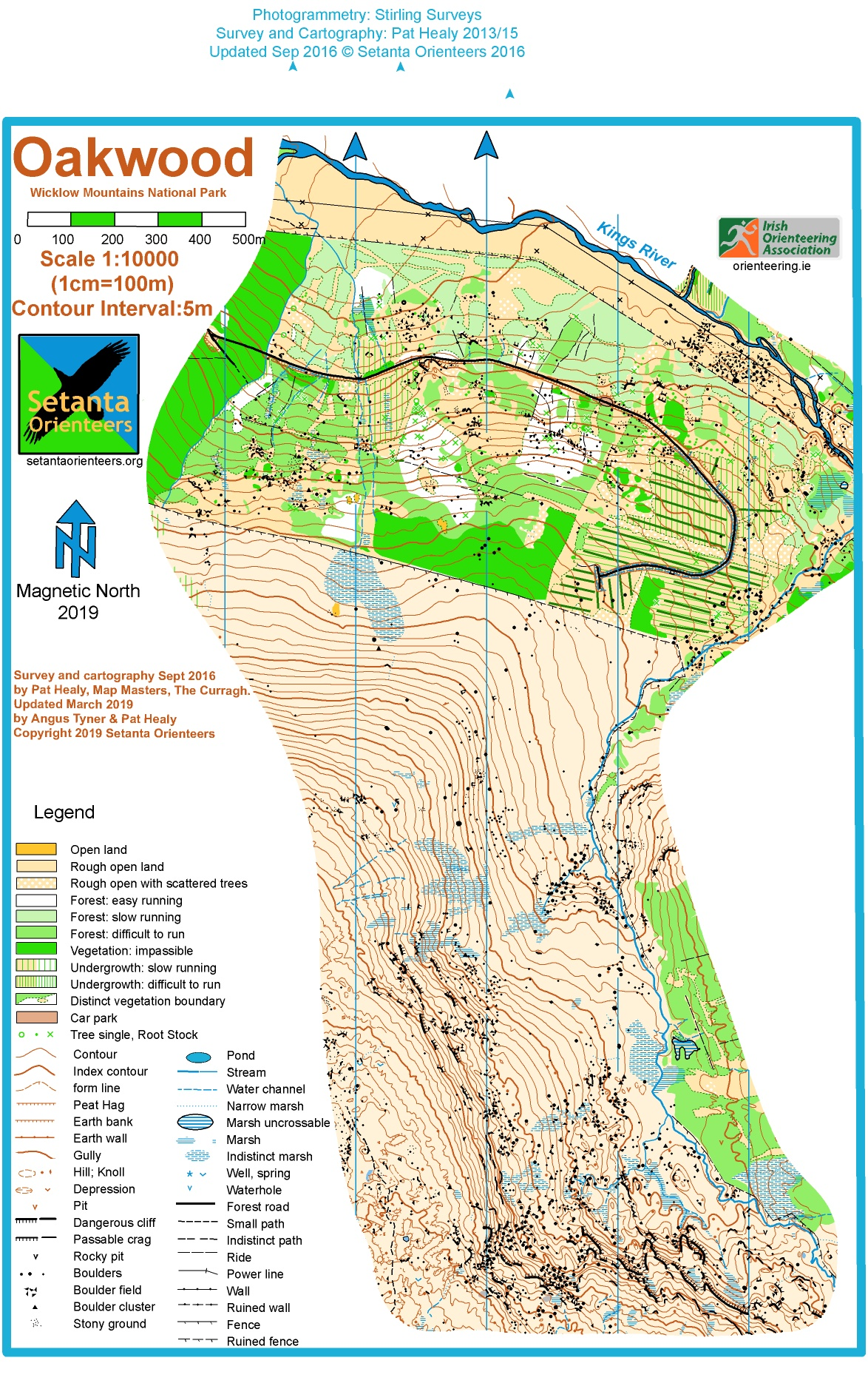 Map Of Ireland Leinster.Oakwood Leinster League No 6 April 28th 2019 Orienteering